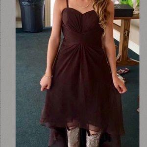 Chocolate Brown High-Low Dress sz 0